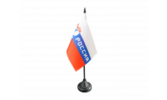 Tischflagge Fanflagge Russland Rossiya - 10 x 15 cm