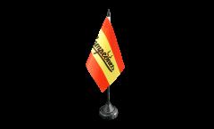 Tischflagge Fanflagge Spanien Campeones