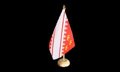 Tischflagge Frankreich Elsass neu