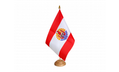 Tischflagge Frankreich Französisch Polynesien