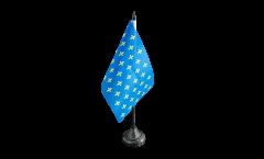 Tischflagge Frankreich Lilienwappen, blau
