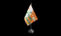 Tischflagge Frohe Ostern orange mit Osterhase - 10 x 15 cm