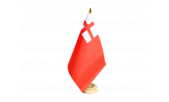 Tischflagge Großbritannien Red Ensign 1620-1707 - 15 x 22 cm