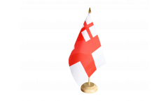 Tischflagge Großbritannien White Ensign 1702-1707 - 15 x 22 cm