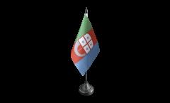 Tischflagge Italien Ligurien - 10 x 15 cm
