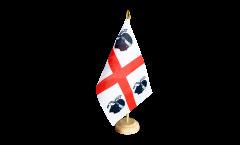 Tischflagge Italien Sardinien
