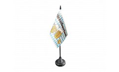 Tischflagge Oktoberfest Bierkrug und Brezel - 10 x 15 cm
