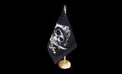 Tischflagge Pirat mit blutigem Säbel