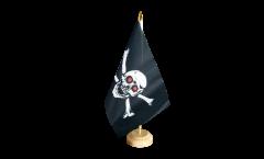 Tischflagge Pirat mit roten Augen