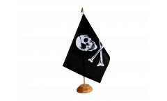 Tischflagge Pirat Skull and Bones