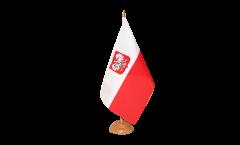 Tischflagge Polen mit Adler