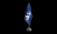 Tischflagge Schweden Provinz Hallands län - 10 x 15 cm