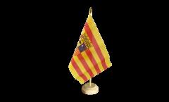 Tischflagge Spanien Aragonien