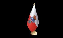 Tischflagge Spanien Kantabrien