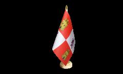 Tischflagge Spanien Kastilien-Leon