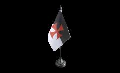 Tischflagge Tempelritter