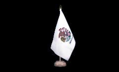 Tischflagge USA Illinois
