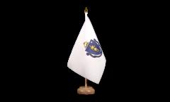 Tischflagge USA Massachusetts