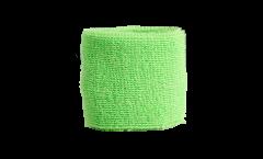 Schweißband einfarbig hellgrün - 7 x 8 cm