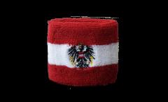 Schweißband Österreich mit Adler - 7 x 8 cm