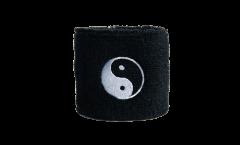 Schweißband Ying und Yang schwarz - 7 x 8 cm